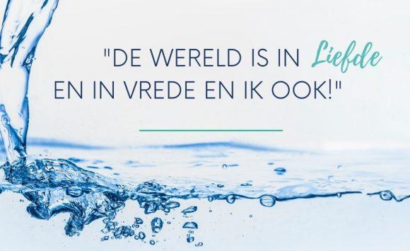 De kracht van water en gedachten!